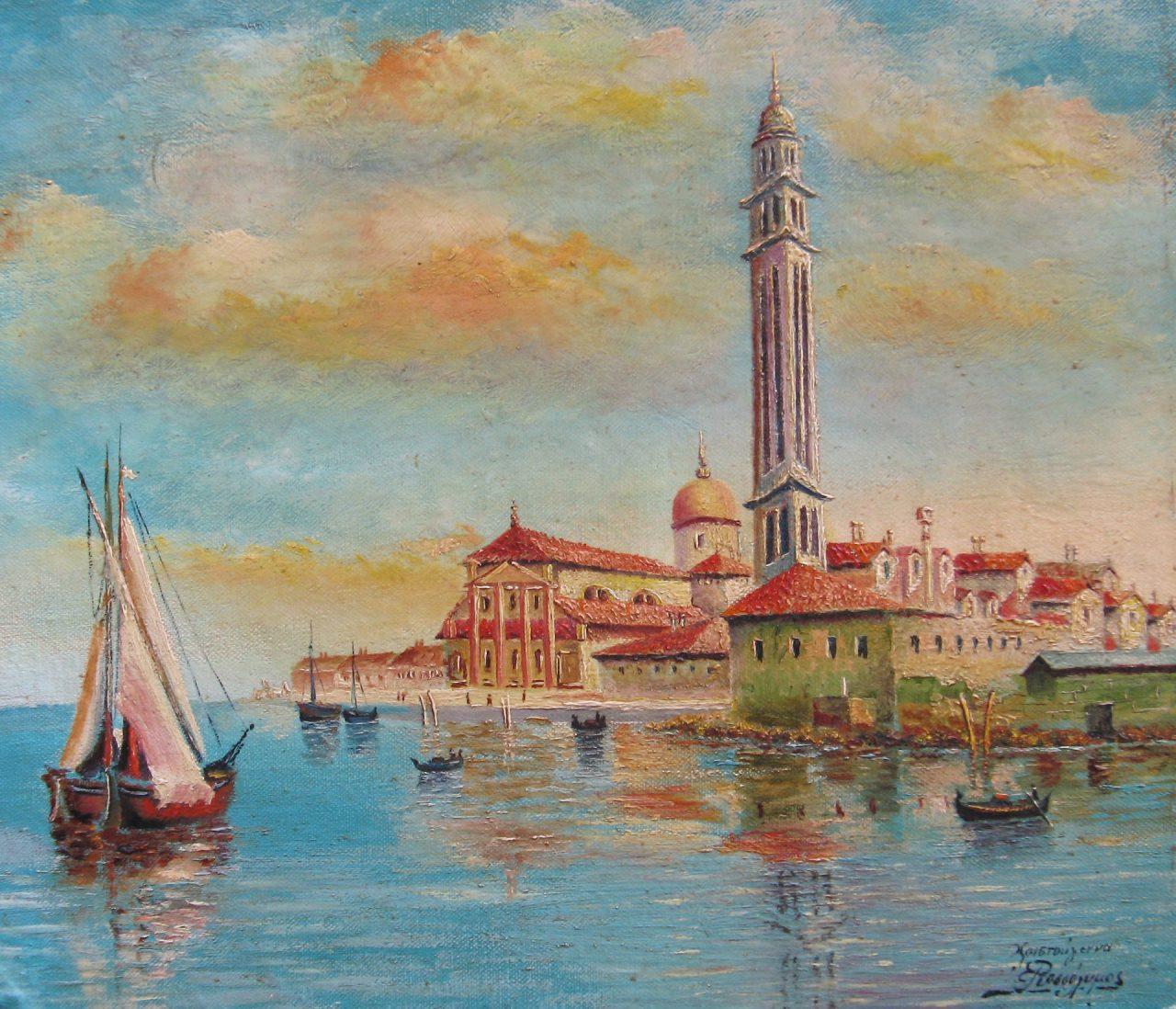 1a LOT E.ROSSOLIMOS (c1850)Venice 1882, ooc-sob 31X36.5 Jun12