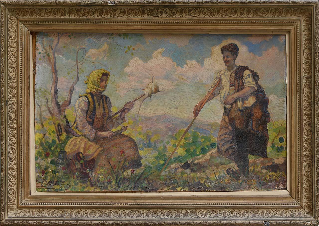 69a 63x89 Χαραλ.ΝΤΟΥΜΑΣ (1910-1991)oob 44x71(frmd63x89) R300