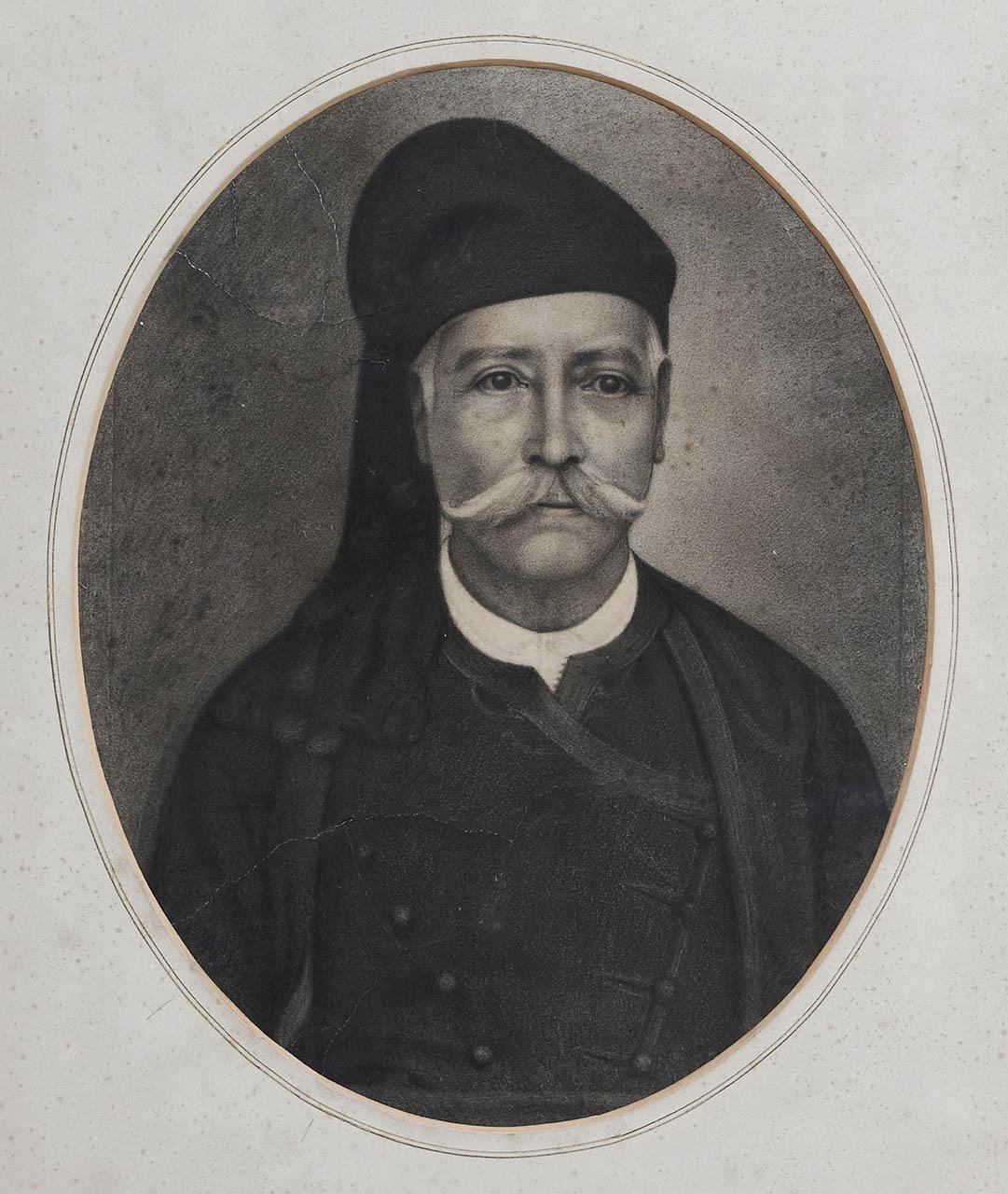 8a AVLICHOS (Lixouri, 1842-1909) charc.o.p 66X50 (1894) PROFF.