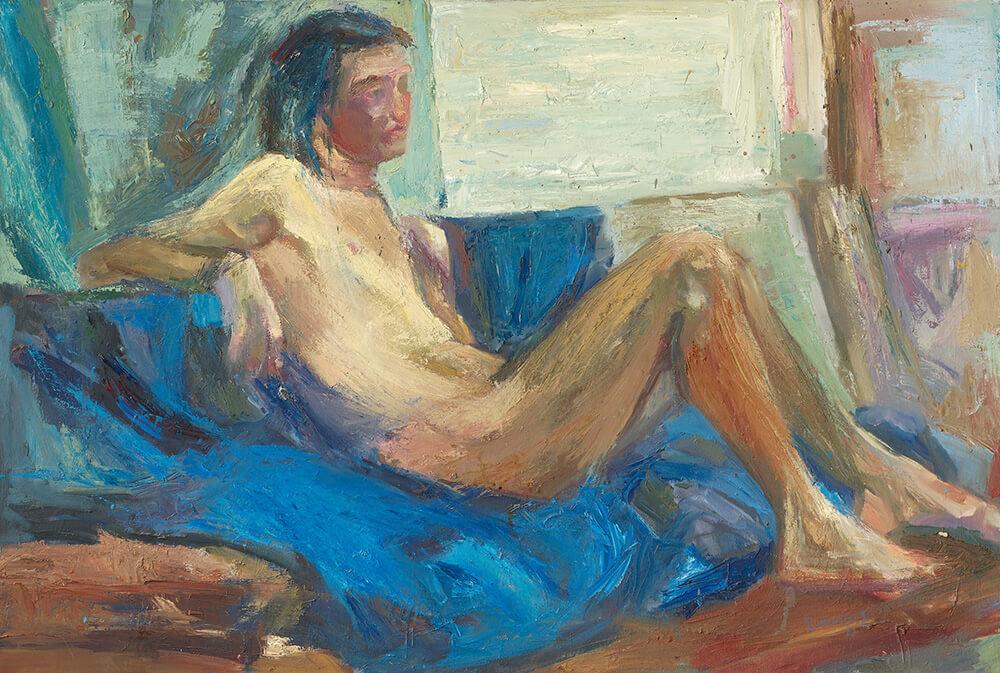 34a DANIIL 'Lying nude' 1982 ooc 80X118;
