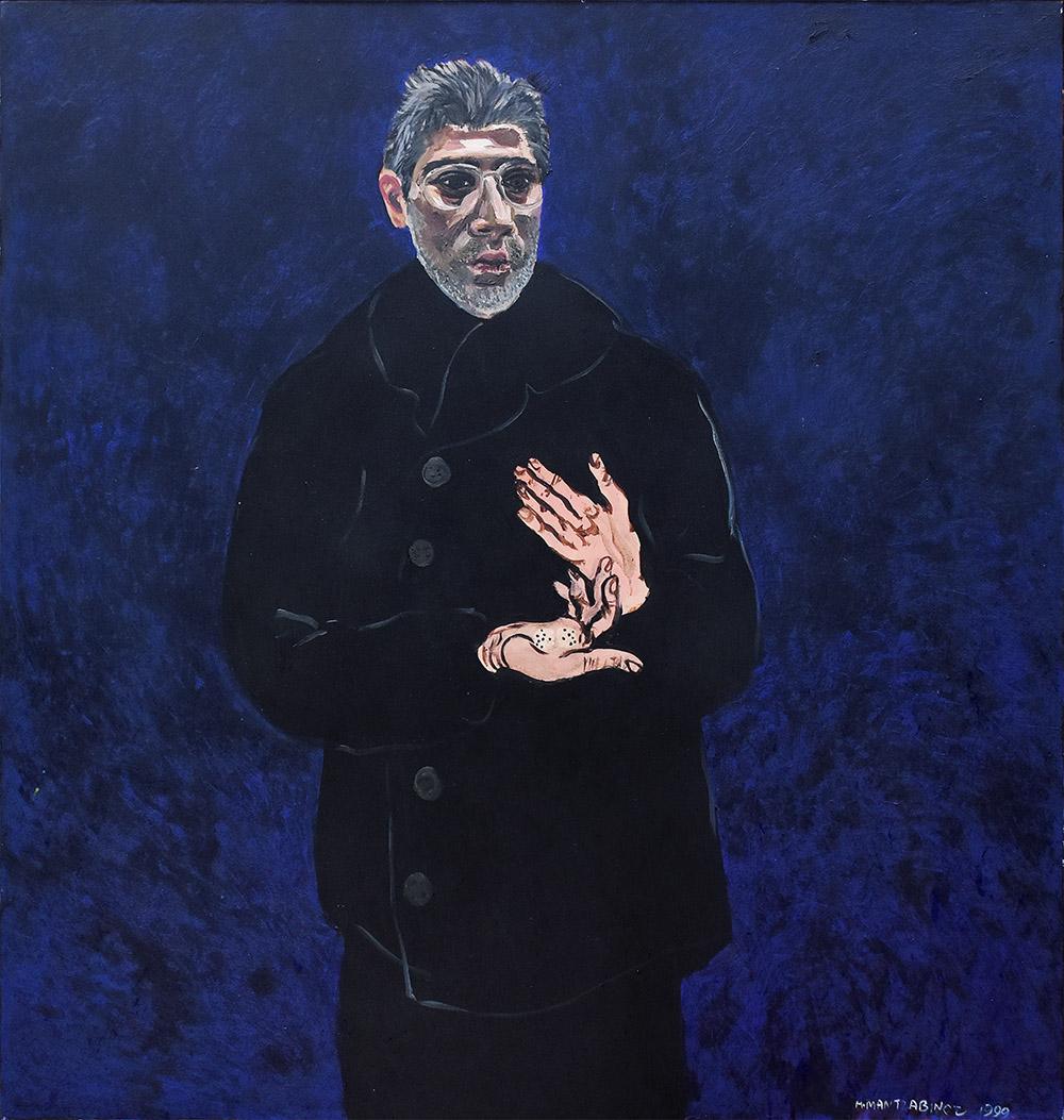 104a 120x114 acr.o.c. 1999 (Gall. Terracotta skg)self-portrait (the dice of life) R2.8