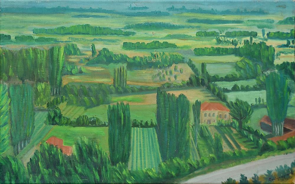 40a Παπαζωρζ Aristides (1899-1983) ooc 43x69 PROFF