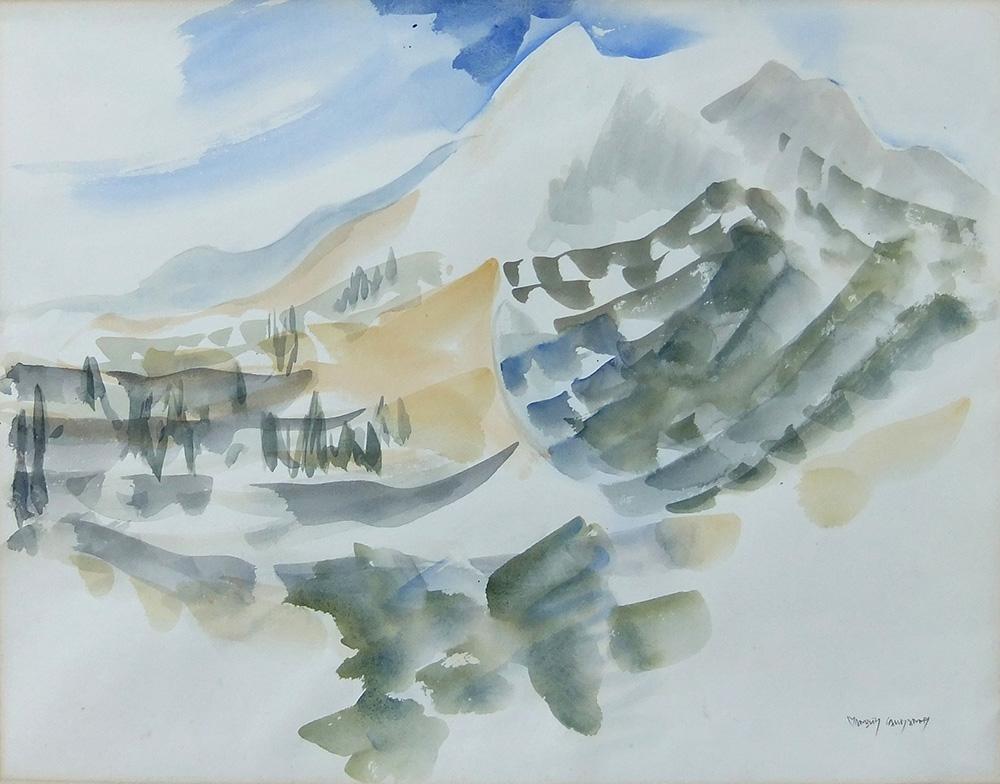 49aa. DSCF4107 Kalliyiannis 'La montagne en France III' wc50x65
