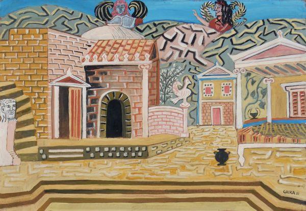 050. GHIKA (HATZIKYRIAKOS)  Nikos (1906-1994)
